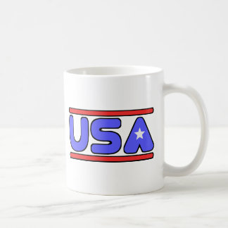 USA red white and blue Coffee Mug