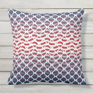 USA Red, White and Blue Throw Pillow