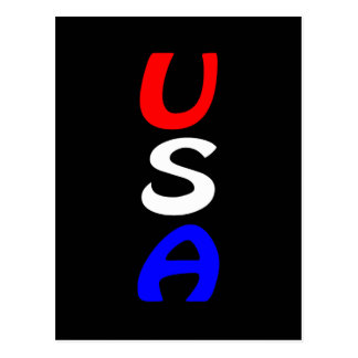 USA Red, White & Blue Postcard