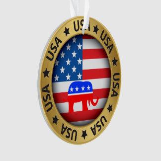 USA Republican Ornament