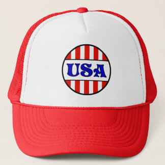 USA Retro Style T-Shirt Trucker Hat