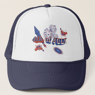 USA-Rocket 4th of July Trucker Hat