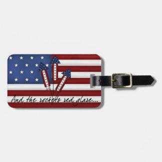 USA Rockets Flag Luggage Tag