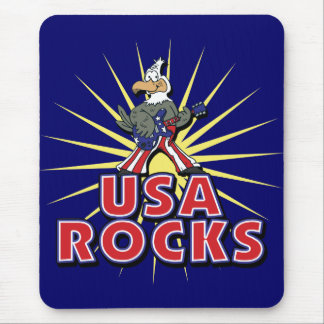 USA Rocks Eagle Mouse Pad