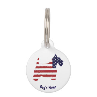 USA Scottie Personalize Pet ID Tag