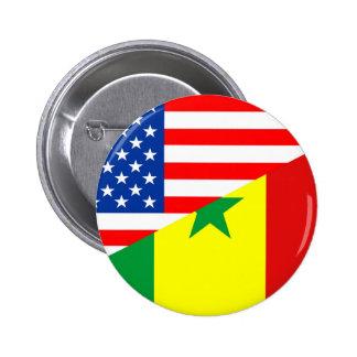 usa senegal country half flag america symbol 2 inch round button