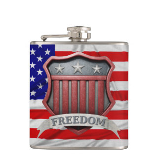 USA Shield Hip Flask