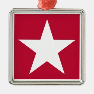 USA Silver-Colored SQUARE ORNAMENT