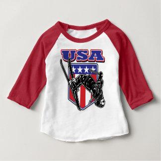 USA-Skier Baby T-Shirt