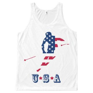 USA skiing American skier All-Over-Print Tank Top