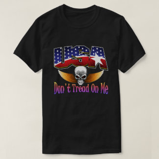 USA Skull T-shirts By AntsAfire