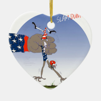 USA slam dunk, tony fernandes Ceramic Heart Ornament