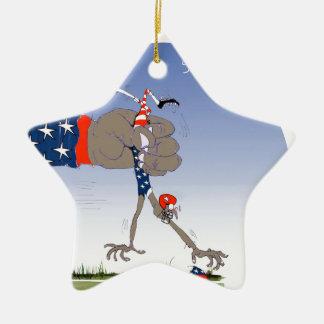 USA slam dunk, tony fernandes Ceramic Star Ornament