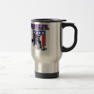 USA Snowboarding Travel Mug