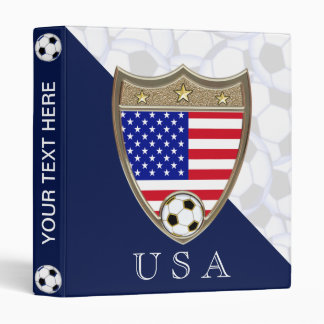 """USA Soccer 1"""" Binder"""