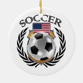 USA Soccer 2016 Fan Gear Ceramic Ornament