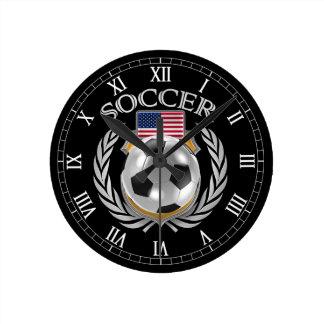 USA Soccer 2016 Fan Gear Round Clock