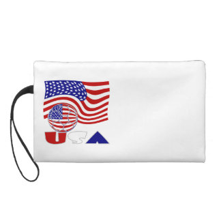 USA Soccer Ball and Flag Wristlets