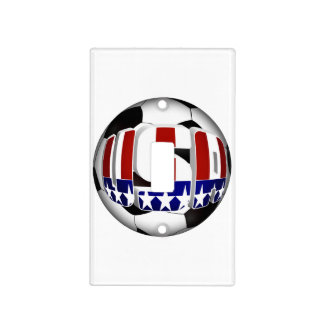 USA Soccer Ball Light Switch Cover
