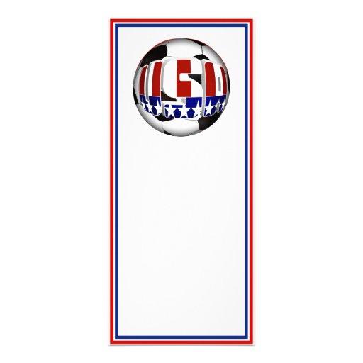 USA Soccer Ball Customized Rack Card