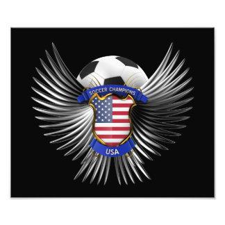 USA Soccer Champions Photo Print