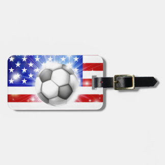 USA soccer flag Luggage Tag