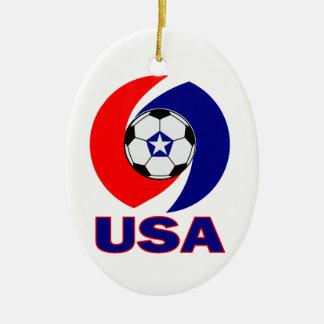 USA Soccer Swirl Ornament Pendant Door Plaque