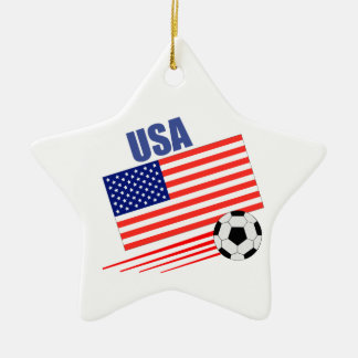 USA Soccer Team Ceramic Ornament
