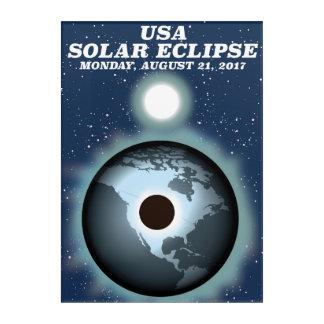 USA Solar Eclipse 2017 vintage poster Acrylic Print