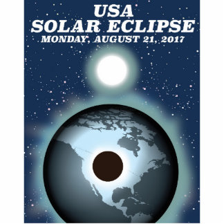 USA Solar Eclipse 2017 vintage poster Standing Photo Sculpture