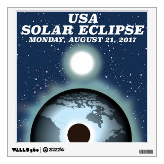 USA Solar Eclipse 2017 vintage poster Wall Sticker