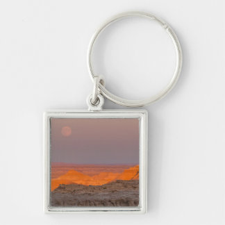 USA, South Dakota, Badlands National Park Silver-Colored Square Keychain