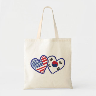 USA South Korea love hearts Tote Bag