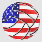 USA Sports - USA Volleyball ball Classic Round Sticker