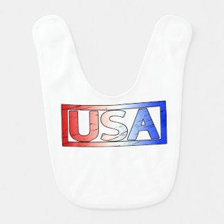 USA Stamp Bib