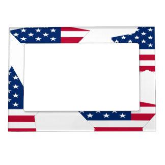 USA Star American Flag Magnetic Frame