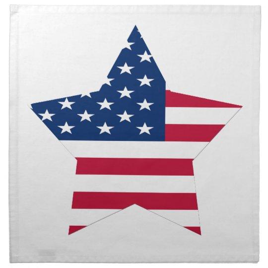 USA Star American Flag Printed Napkin