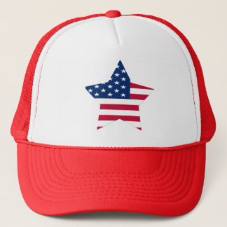 USA Star American Flag Trucker Hat
