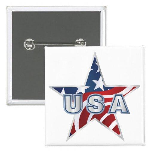 USA Star Pin