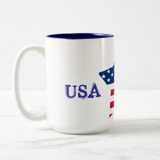 USA Star Flag Two-Tone Coffee Mug