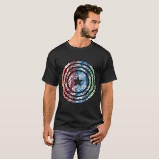 USA Star Shield T-Shirt   Rainbow Color Design Tee