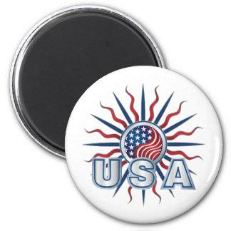 USA Starburst Yin Yang Magnet