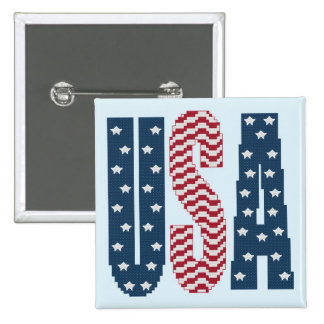 USA Stars and Stripes Button