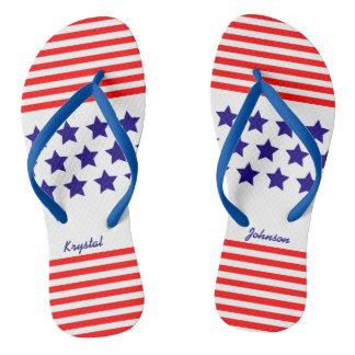 USA Stars and Stripes (cust.) Flip Flops