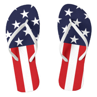 USA Stars and Stripes Flip Flops