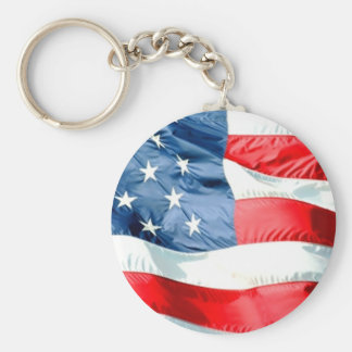 USA Stars and Stripes Keychain