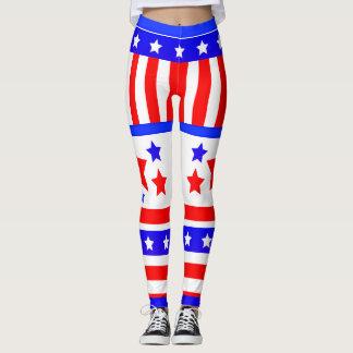 USA Stars and Stripes Leggings