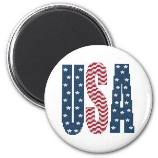 USA Stars and Stripes Magnet