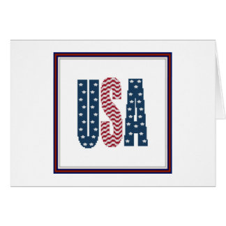 USA Stars and Stripes Notecard