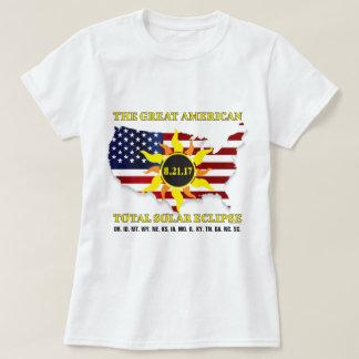 USA Stars and StripesTotal Solar Eclipse of 2017 T-Shirt